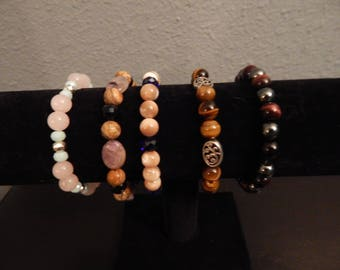 Beaded bracelets - semi-precious gemstones