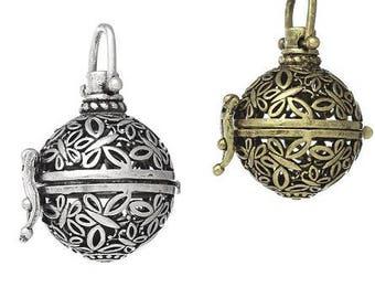 Pendant, pendant, cage, Rufer, heart silver, bronze, vintage, Medallion