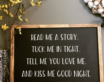Read me a Story Sign. Rustic. Wood Sign. Handmade.