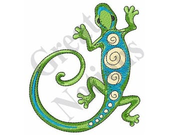 Gecko Lizard - Machine Embroidery Design