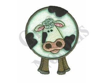 Cow Plush Applique - Machine Embroidery Design