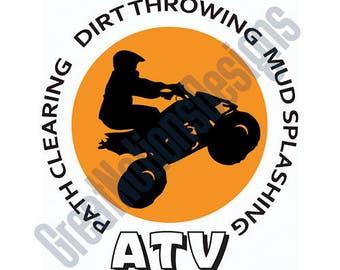 ATV SVG - HTV - Vinyl Cutting Graphic Art