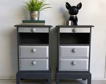 Bedside Cabinet Drawers with pull out tray