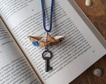 """Collection """"DREAMS aboard"""" boat """"journey"""" necklace"""