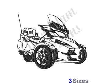 Spyder Touring Outline - Machine Embroidery Design