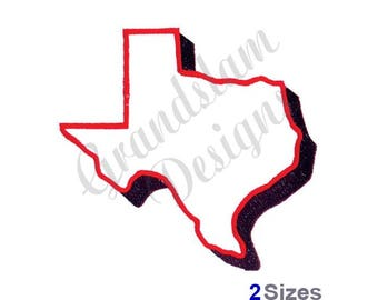 Texas Outline - Machine Embroidery Design