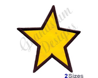 Applique Star - Machine Embroidery Design