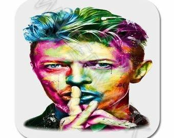 4 x David Bowie Printed Mug Coaster Coasters . ziggy stardust