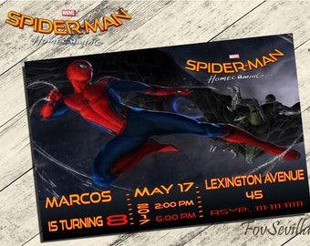 spiderman homecoming invitation,spiderman homecoming birthday,spiderman birthday party ,spiderman homecoming birthday invitation, spiderman