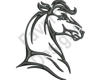 Horse Head Outline - Machine Embroidery Design