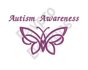 Autism Awareness - Machine Embroidery Design