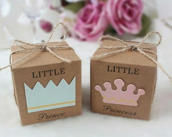 Baby Shower Favour Box - Lolly Box for Prince and Princess Party, Prince Box Pkt 5, Princess Box Pkt 5
