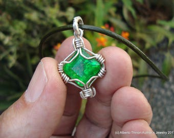 emerald pendant emerald jewelry emerald necklace