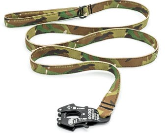 Military Style Tactical Dog Leash - Kong Frog Connector