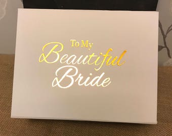 Bride keepsake gift box
