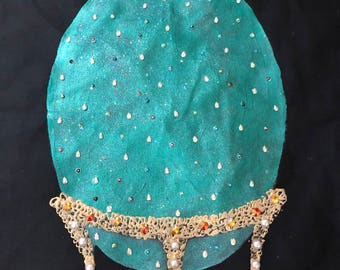 FABERGE-inspired Easter Egg Cushion Cover