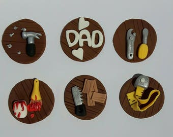 Dad Fondant cupcake toppers