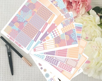 Flower Dream Weekly Sticker Kit for Erin Condren Vertical