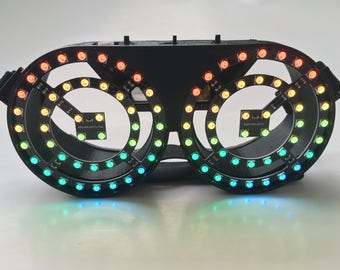 LED Onyx Series Goggles - 88 Full Color LEDS and over 100 color/pattern combinations