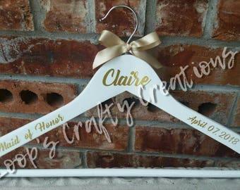 Personalized Wedding Hanger, Bridesmaid Hanger, Wedding Hanger, Bride Hanger, Bridesmaid Gift, Custom Wedding Hangers