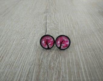 Pink earrings designs tree