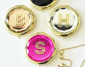 Compact Mirror I Personalized Mirror I Bridesmaid Gifts I Bridesmaid Proposals I Bride Gifts I