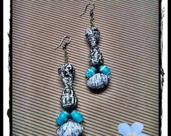 Elegant earrings with Pearl paper