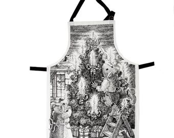 Dressing the Tree Christmas Apron