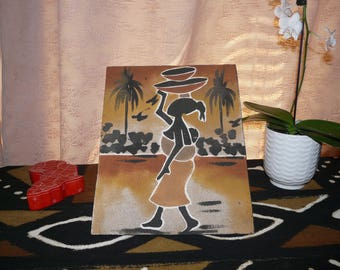 African sand art - Mali painting - Home decor