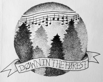 Forest Tattoo Design