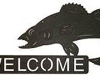 Horizontal Welcome Sign - Walleye Design