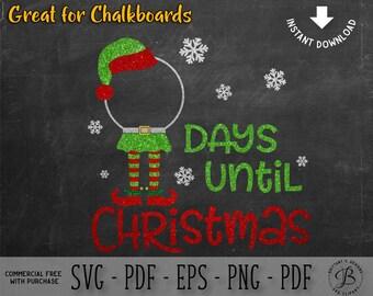 Christmas SVG, Countdown SVG, Elf SVG, Elf Countdown svg, christmas cut files, elf hat svg, svg files, svg files for cricut