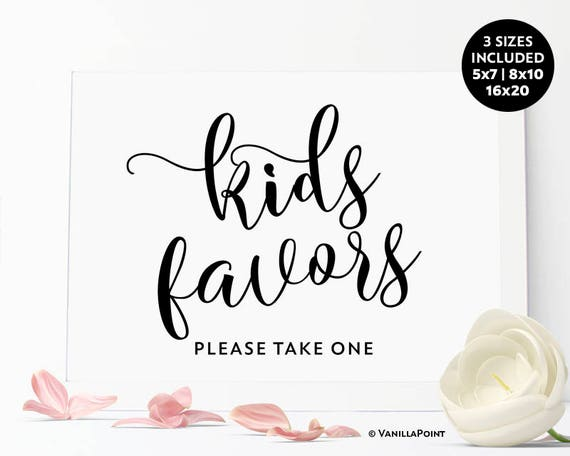 Kids Wedding Gifts: Wedding Kids Favors Sign Printable Kids Wedding Favors