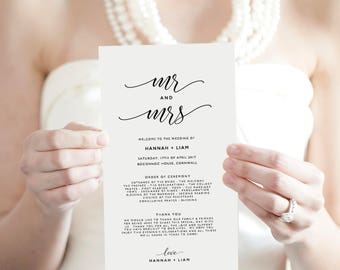 Wedding Itinerary Template Printable Itinerary Wedding