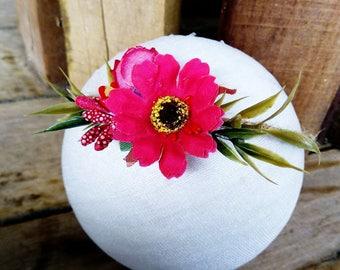 Rustic Tieback, Newborn Photography Headband, Tieback Photo Prop, Floral Headband Photo Prop, Floral Newborn Prop, RTS A39