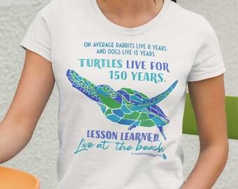 Live Like A Sea Turtle Beach T Shirt