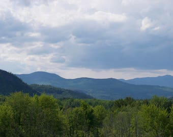 White Mountains; New Hampshire; Landscape; Woods; Spring; Conway; Intervale; Nature; Clouds