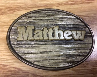 Matthew Name Kids Belt Buckle
