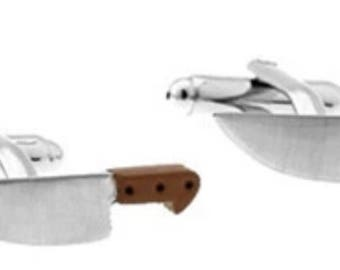 Chef Kitchen Knives Cufflink Set Boxed