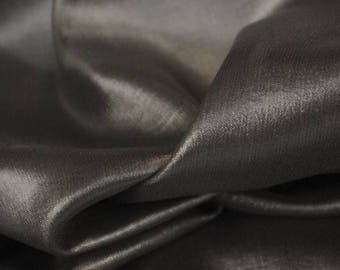 Sheer Wet Look Graphite Black Fabric - 58 Inches Wide
