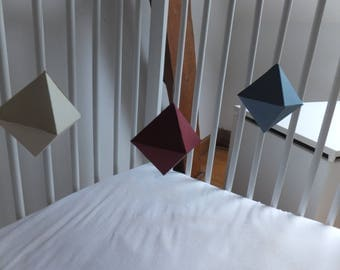 the second mobile octahedral Montessori baby mobile