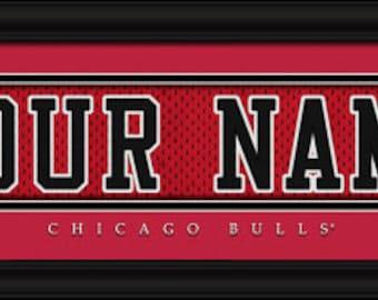 Chicago Bulls Jersey Stitch Personalized Print - Framed - NBA - NBA Gifts