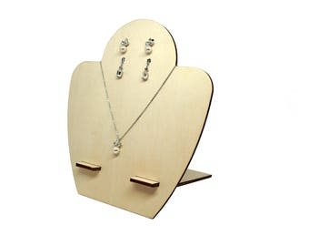 Jewellery display malibu' x1, Cheap jewelry stand, Bijoux stand, Basic jewelry organiser, Stand lasercut wood plexiglas - SET 1 stand