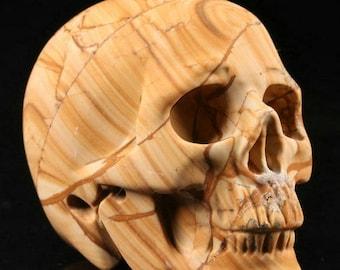 """2.0""""Picture Jasper Carved Crystal Skull"""