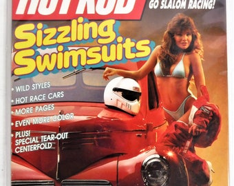 """HOT ROD MAGAZINE April 1989""""sizzling Swimsuits"""" Issue...Complete & Very Good Condition"""