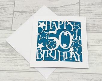 50th Birthday Card, fiftieth birthday, 50th card, happy 50th birthday, special birthday, male birthday card, happy 50th, 50th birthday cards