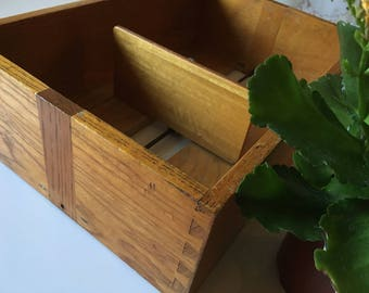 Vintage wooden CARD  box