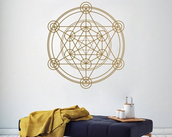 SACRED GEOMTRY Alchemy Geometric Line Removable Wall Decal Sticker Circle Mandala