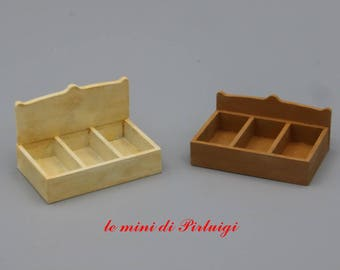 Wooden kit – seed box for dollshouse in 1:12 scale - accessories for dolls, dollshouse miniature, garden in miniature