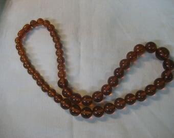 S 38g Vintage Brandy s Graduate Necklace Original FOSSIL RESIN Baltic AMBER